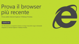 Microsoft lancia l'ultima beta di Internet Explorer 11 per Windows 7