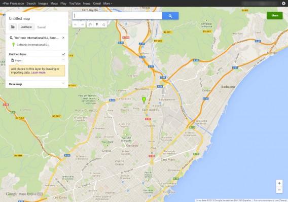 La carte personnalisée Maps Engine