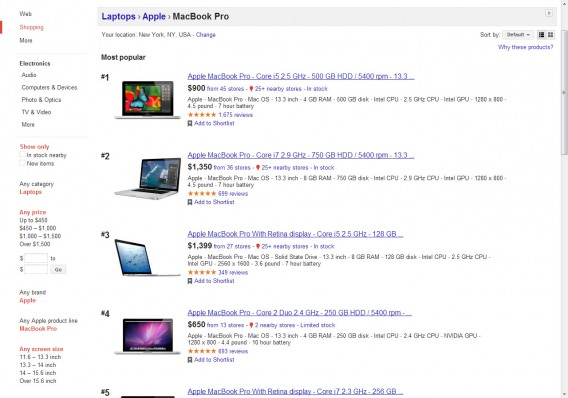 Shopping MacBook Pro