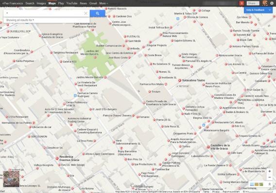 Maps  Option « Tout Voir »