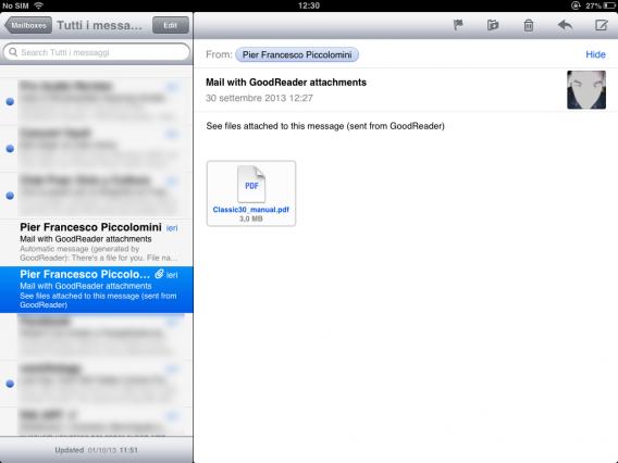 Email con icona allegato