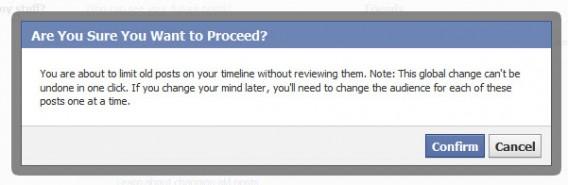 Facebook limiter visibilité posts anciens