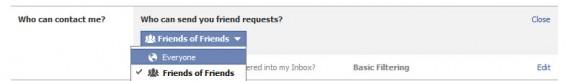 Demande ajout amis Facebook