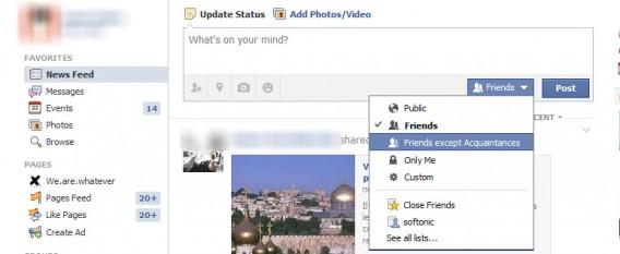 Qui voit post Facebook