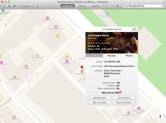 Maps - Info locali commerciali