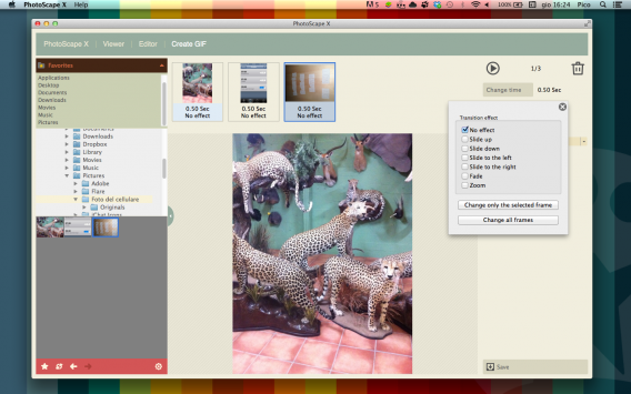 Photoscape X for Mac Create GIF