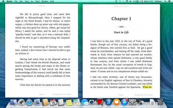 iBooks - 2 libri aperti contemporaneamente
