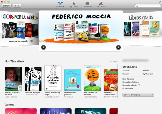 iBooks - Overview store blurred