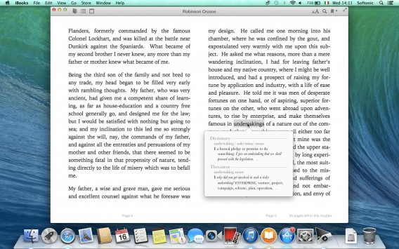 iBooks - definizione del dizionario