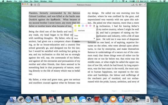 iBooks - evidenziatori e note