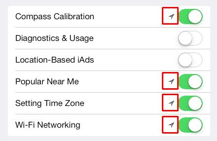 iOS 7 System Services - uso della posizione geografica