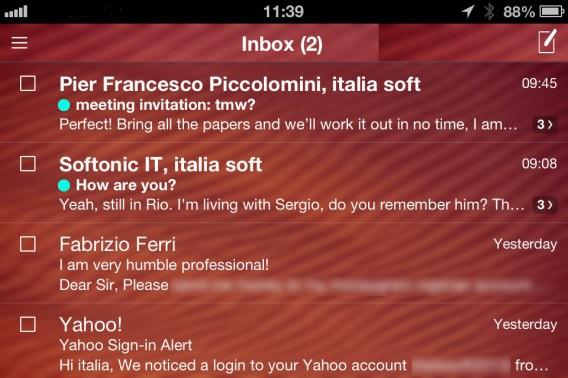 iOS tema sincronizzato con webmail
