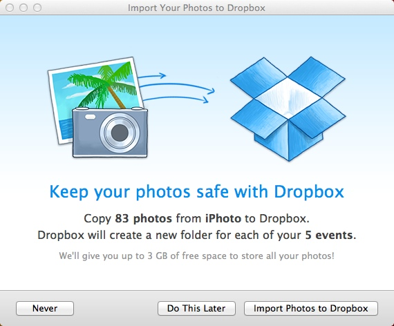 Import photos to iPhoto