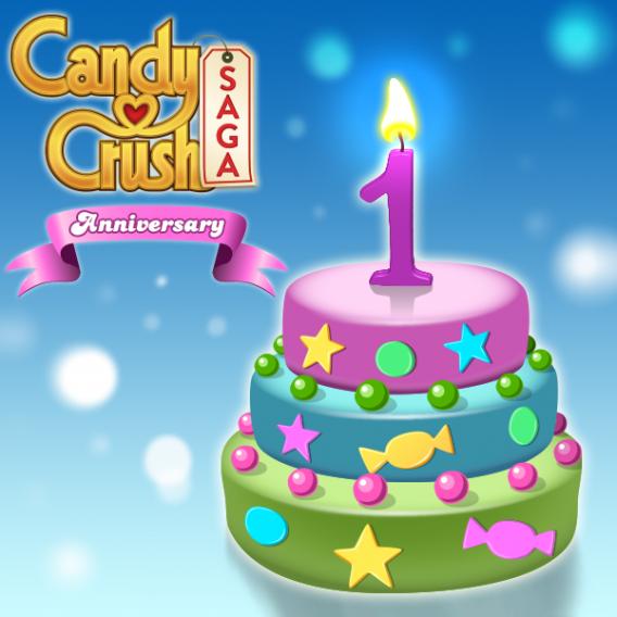 candy crush 1 year