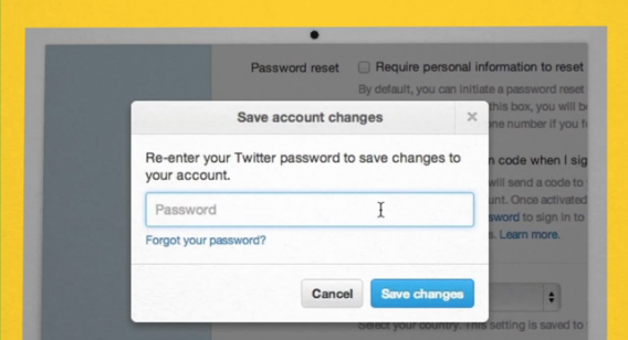 Twitter log-in security