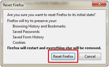 Firefox - Reset Firefox