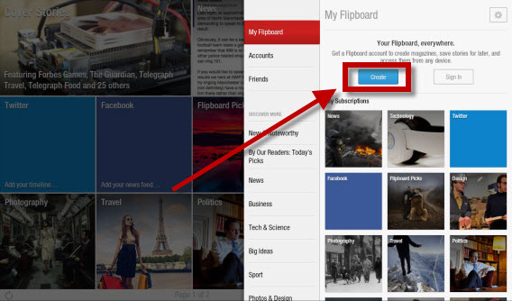 Creating a Flipboard account is recommended, but not necessary