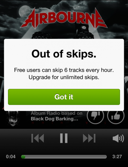 is spotify free on iphone