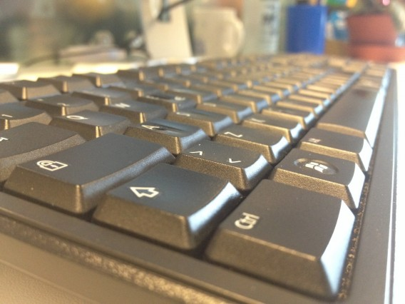 Angled photo of keyboard