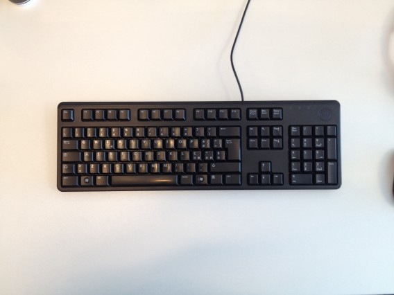 Aerial photo of computer keyboard