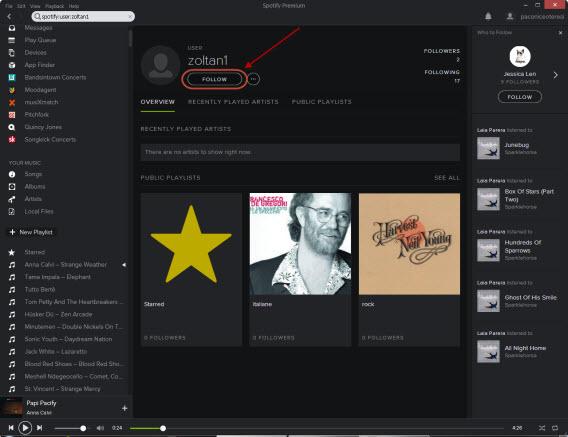 Ajouter des amis à sa liste de contacts Spotify