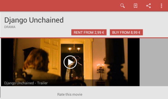 Rent or buy a movie in Google Play Movies
