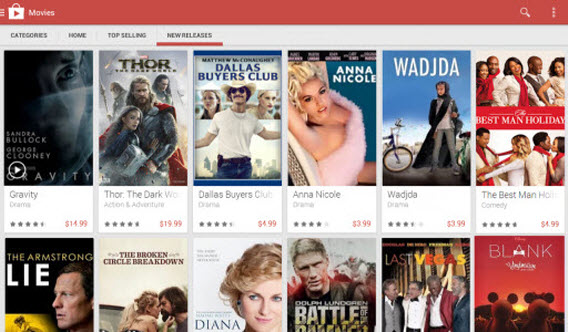New Releases on Google Play Movies