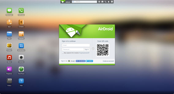 AirDroid - web