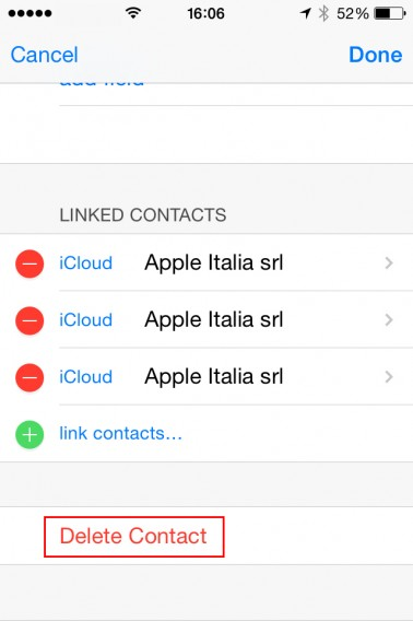 Apagando contatos duplicados no iCloud