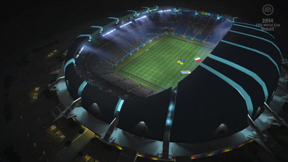 Get the stadium atmosphere in Brazil