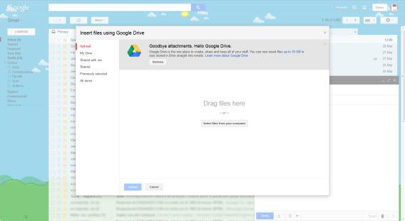 Anexando arquivo no Gmail, hospedado no Google Drive