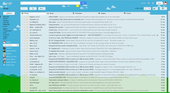 O recurso de temas dá um toque personalizado ao Gmail