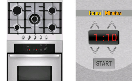 Set the time with Kitchen Timer