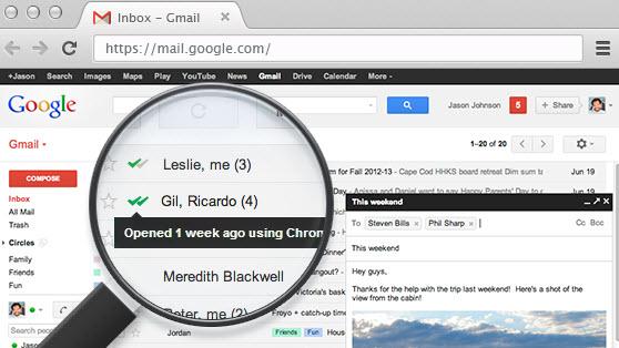 O MailTrack inclui o recurso de confirmação de leitura no Gmail