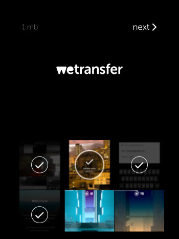WeTransfer - select your files