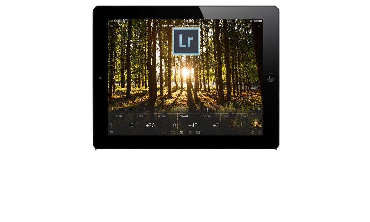 Lightroom per iPad: la camera oscura nello zaino
