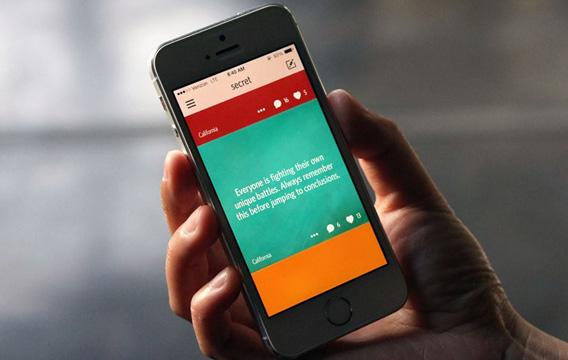 Apps como Secret é um porto seguro para os mais novos expressarem sentimentos embaraçosos