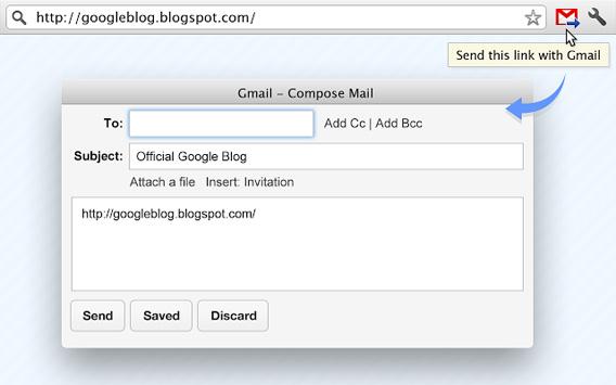 O recurso Send from Gmail transforma o Gmail no programa padrão para enviar mensagens
