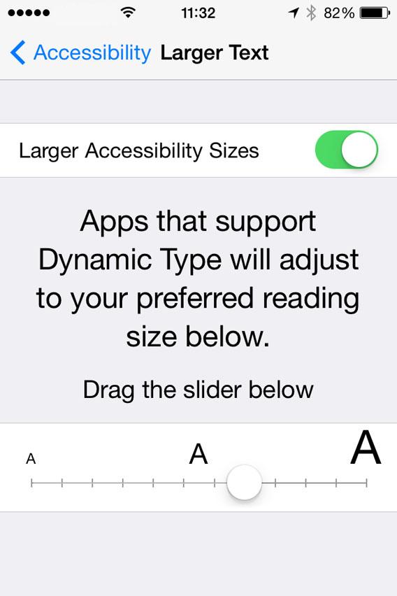 Make text larger