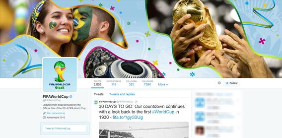 Offizieller FIFA WM Account bei Twitter
