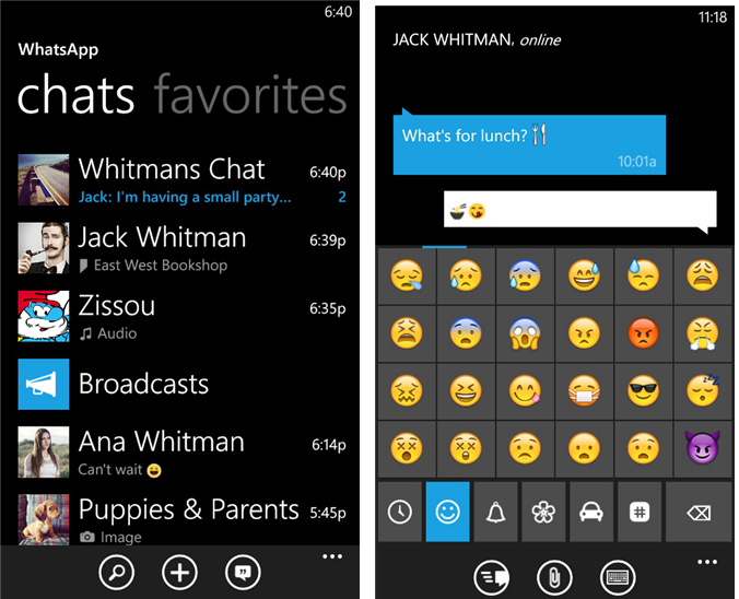WhatsApp torna su Windows Phone con sfondi per le chat e liste broadcast