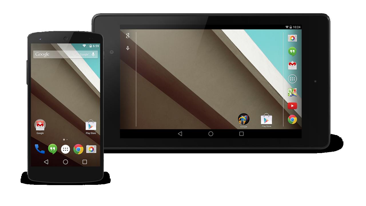 Android L: disponibili le immagini della preview per Nexus 5 e Nexus 7