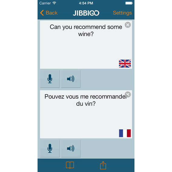 Jibbigo screenshot