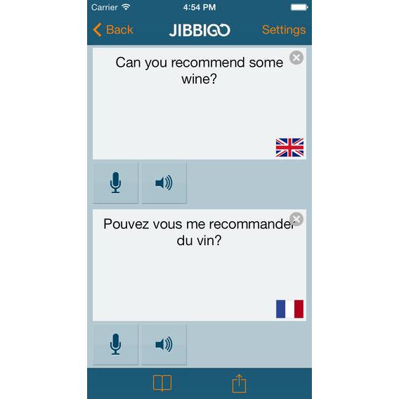 Jibbigo screenshot