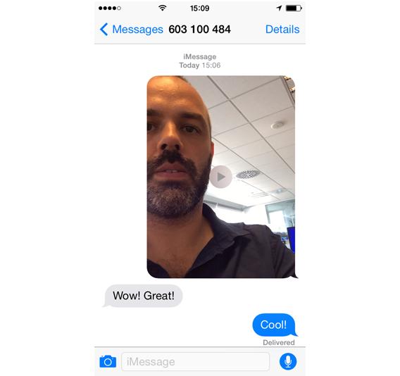 Mensagem enviada no iOS 8