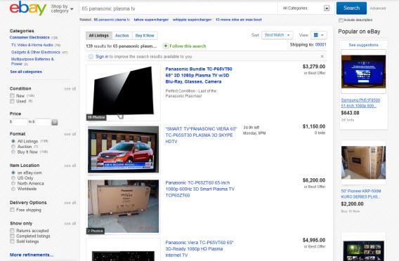 Venda a televisão no eBay e acabe com a festa