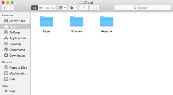iCloud Drive folder su Mac