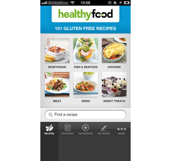 101 glute-free Recipes screenshot