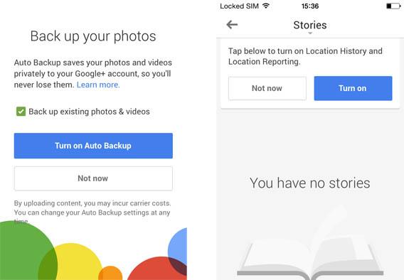 Ative a cópia de segurança do Google Plus