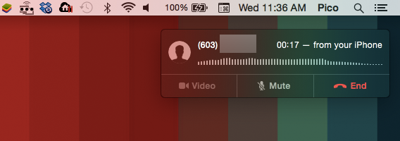 Rispondi al telefono dal tuo Mac